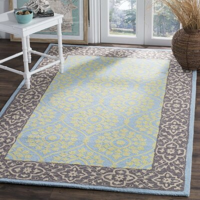 Tomo Hand-Hooked Chocolate Area Rug Rug Size: Rectangle 5 x 8