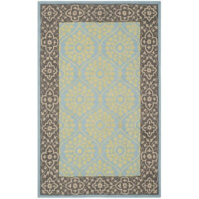 Tomo Hand-Hooked Chocolate Area Rug Rug Size: Rectangle 2 x 3