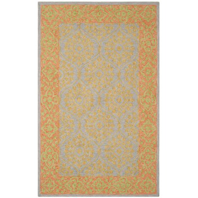 Tomo Hand-Hooked Orange Area Rug Rug Size: 5 x 8