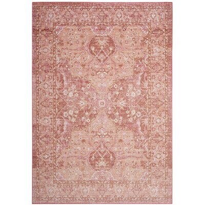 Chauncey Floral Pink Area Rug Rug Size: Rectangle 5' x 7'