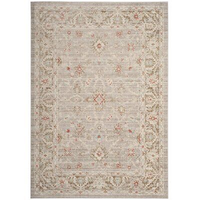 Chauncey Oriental Light Gray Area Rug Rug Size: Square 6