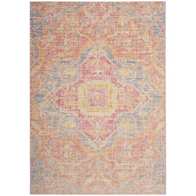 Chauncey Fuchsia Area Rug Rug Size: Rectangle 5 x 7