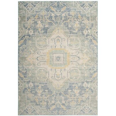 Chauncey Blue Area Rug Rug Size: Rectangle 5 x 7