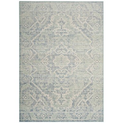 Chauncey Seafoam / Blue Area Rug Rug Size: Rectangle 5 x 7