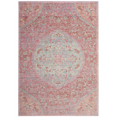 Chauncey Pink Area Rug Rug Size: Square 6