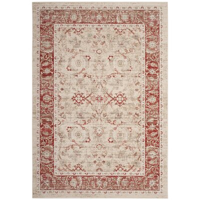 Chauncey Oriental Ivory Area Rug Rug Size: Rectangle 5 x 7