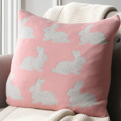 Dannielle Bunny Hop Knit 100% Cotton Throw Pillow