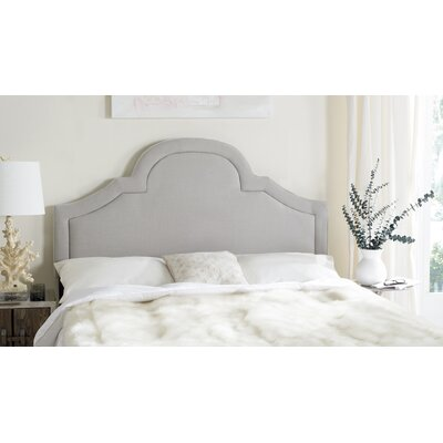 Kerstin Arched Upholstered Panel Headboard Size: King, Color: Arctic Gray, Upholstery: Linen