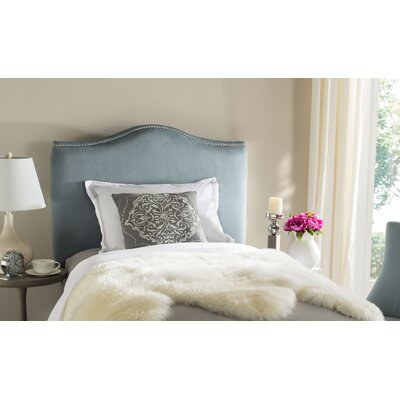 Jeneve Upholstered Panel Headboard Size: King, Upholstery: Wedgewood Blue