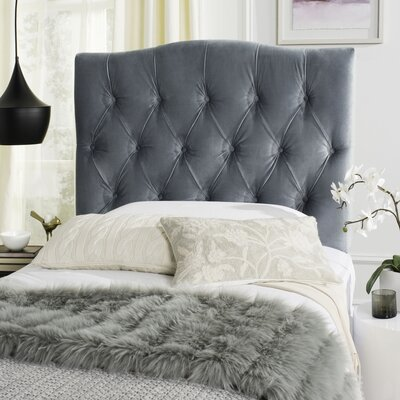 Axel Upholstered Panel Headboard Size: Twin, Upholstery: Wedgewood Blue