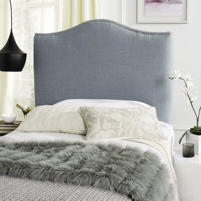 Jeneve Upholstered Panel Headboard Size: King, Upholstery: Sky Blue