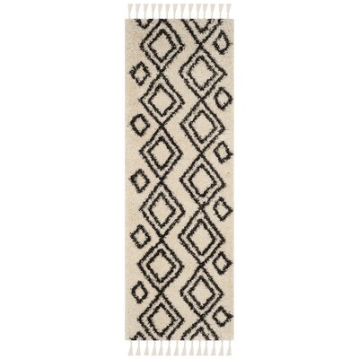 Morgan Black/Beige Area Rug Rug Size: Runner 23 x 7