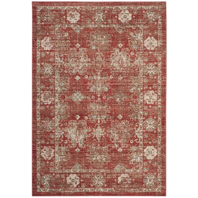 Chauncey Red Area Rug Rug Size: 3 x 12