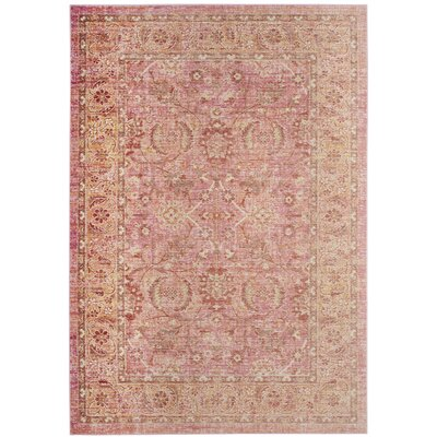 Chauncey Pink Area Rug Rug Size: Rectangle 5 x 7