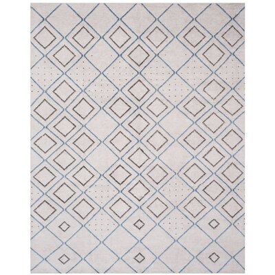 Oakely Hand-Knotted Gray Area Rug Rug Size: Rectangle 8 x 10