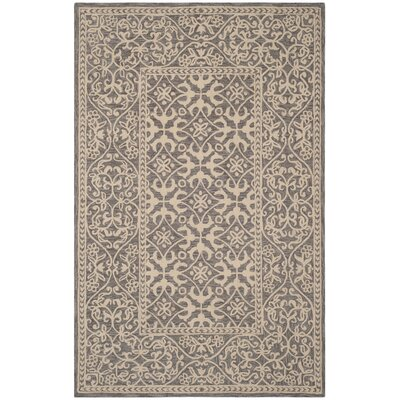 Kirkwood Hand-Knotted Gray Area Rug Rug Size: Rectangle 5 x 8