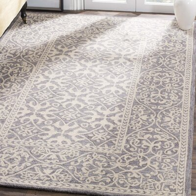Kirkwood Hand-Knotted Gray Area Rug Rug Size: Rectangle 3 x 5