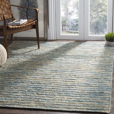Catalano Hand-Woven Blue Area Rug Rug Size: Rectangle 5 x 8