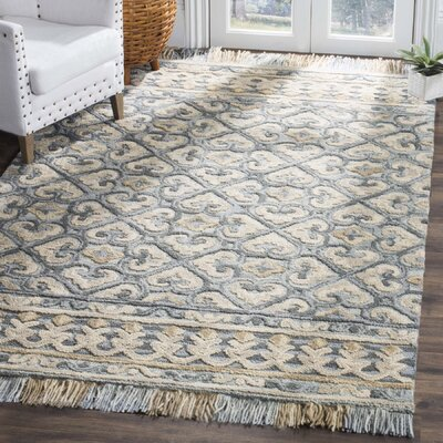 Bradwood Hand-Tufted Light Beige Area Rug Rug Size: Round 6