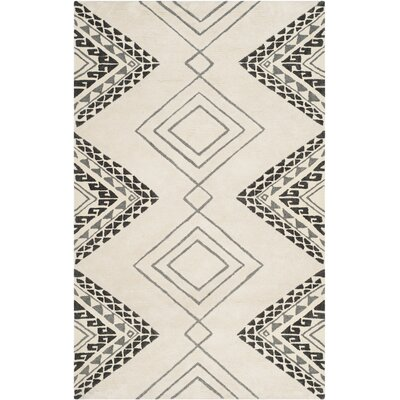 Powell Hand-Tufted Ivory Area Rug Rug Size: Rectangle 5 x 8