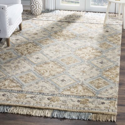 Bradwood Hand-Tufted Beige Area Rug Rug Size: Square 6