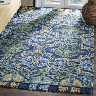 Bradwood Hand-Tufted Navy Area Rug Rug Size: Square 6