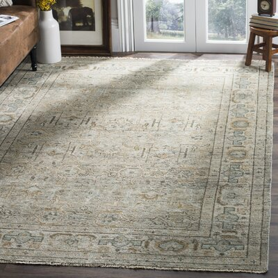 Kline Hand-Knotted Wool Linen Area Rug Rug Size: Rectangle 6 x 9