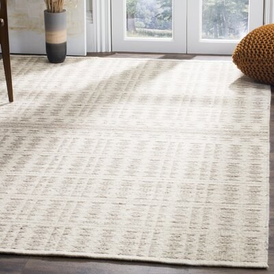 Bennett Hand-Woven Wool Ivory Area Rug Rug Size: Rectangle 5 x 8