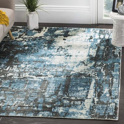 Maxim Hand Woven Blue Area Rug Rug Size: Rectangle 9 x 12