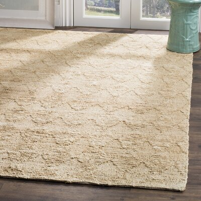 Mercado Hand-Woven Light Beige Area Rug Rug Size: 5 x 8