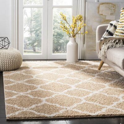 Helsel Beige Area Rug Rug Size: Rectangle 51 x 76