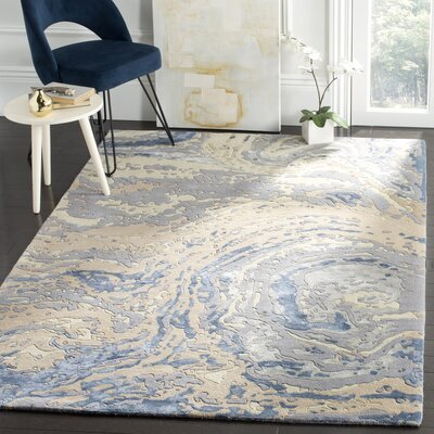 Ayana Hand-Tufted Gray Area Rug Rug Size: Square 6