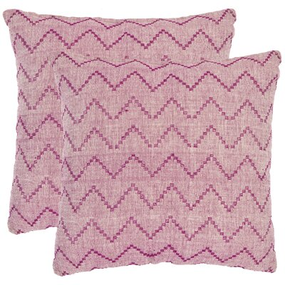 Victor Decorative Pillows in Rose Red and Purple (Set of 2)