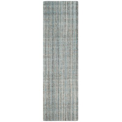 Drumnasole Hand-Tufted Blue/Gray Area Rug Rug Size: Runner 23 x 8