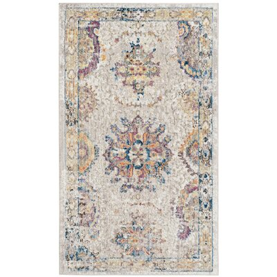 Gardner Light Gray Area Rug Rug Size: Rectangle 3 x 5