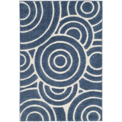 Mckay Blue Area Rug Rug Size: 4 x 6