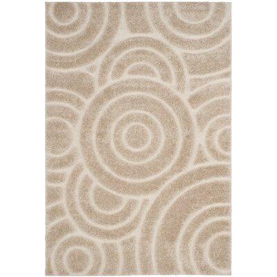 Mckay Woven Cream Area Rug Rug Size: 51 x 76