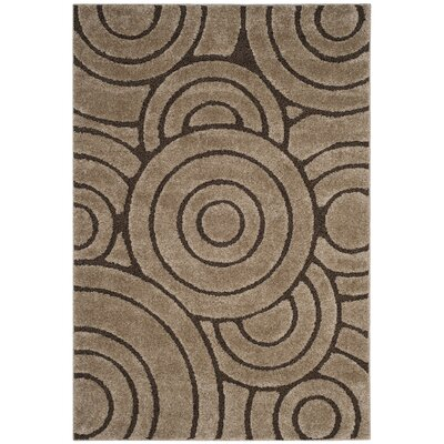Mckay Brown Area Rug Rug Size: 51 x 76
