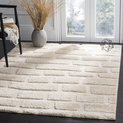 Eisley Cream Area Rug Rug Size: Rectangle 51 x 76