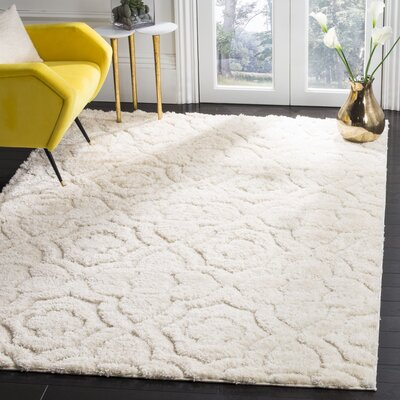 Stonybrook Cream Area Rug Rug Size: 51 x 76