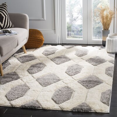 Archway Gray Area Rug Rug Size: 51 x 76