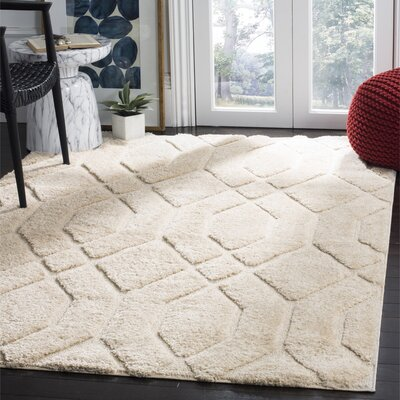 Archway Cream Area Rug Rug Size: Rectangle 51 x 76