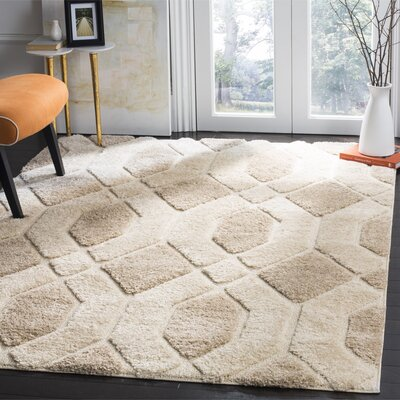 Archway Beige Area Rug Rug Size: 4 x 6