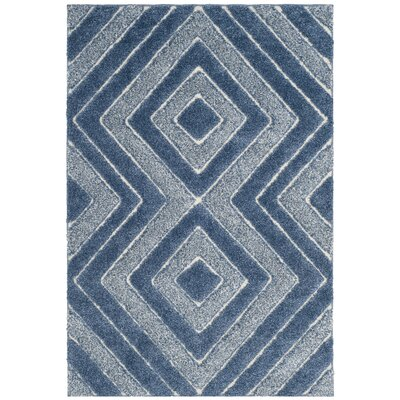 Wideman Blue Area Rug Rug Size: 51 x 76