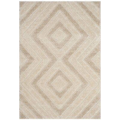 Wideman Beige Area Rug Rug Size: Rectangle 51 x 76
