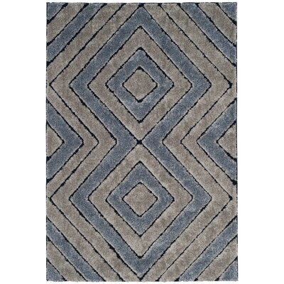 Wideman Gray Area Rug Rug Size: Round 67