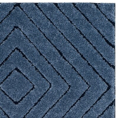 Wideman Navy Area Rug Rug Size: Rectangle 4 x 6