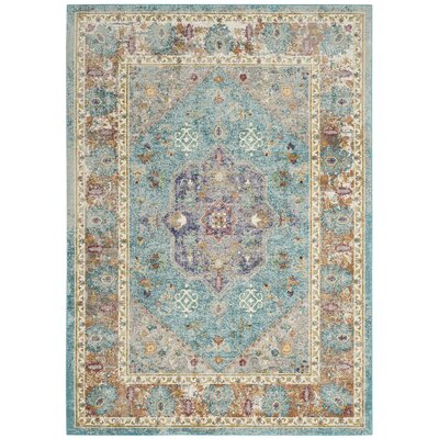 Andy Blue Area Rug Rug Size: Rectangle 51 x 76