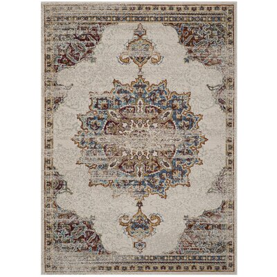 Andy Cream Area Rug Rug Size: Rectangle 9 x 12