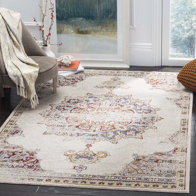 Andy Cream Area Rug Rug Size: 9 x 12